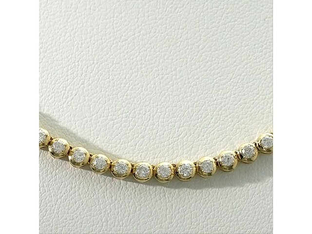 Serena Williams Jewelry 3 CT. T.w. Diamond Riviera Necklace in 10K Gold - image 6 from the video