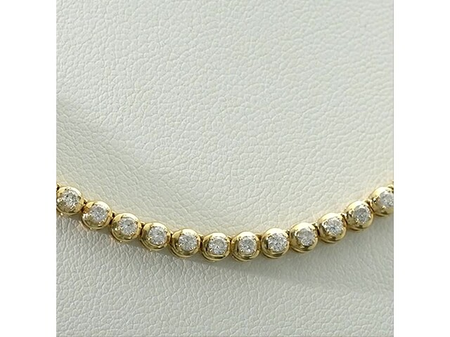 Serena Williams Jewelry 3 CT. T.w. Diamond Riviera Necklace in 10K Gold - image 7 from the video