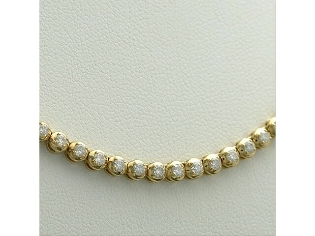 Serena Williams Jewelry 3 CT. T.w. Diamond Riviera Necklace in 10K Gold - image 8 from the video
