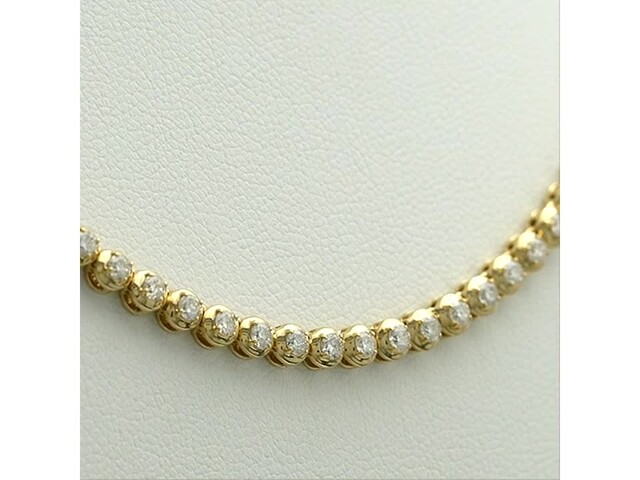Serena Williams Jewelry 3 CT. T.w. Diamond Riviera Necklace in 10K Gold - image 9 from the video