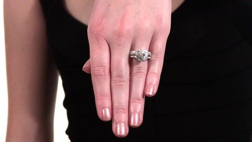 e811476320a4ff Diamond Double Frame Bridal Set in 14K White Gold 1-1/2 CT. T.W. ...