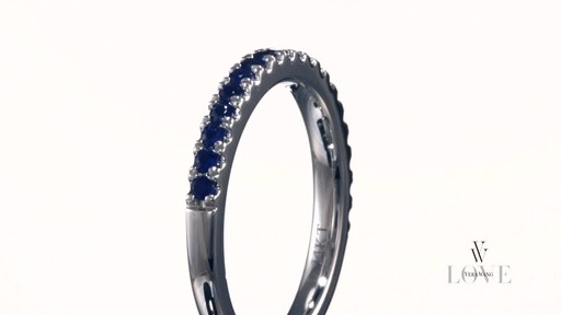 Vera Wang Love Collection Blue Sapphire Wedding Band In