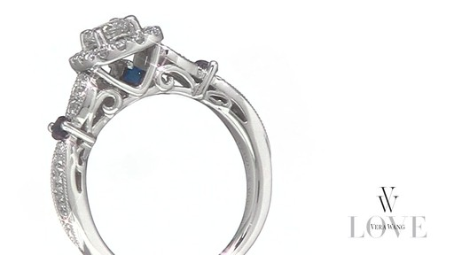 Diamond Vintage Style Ring In 14k White Gold Vera Wang Love Shop