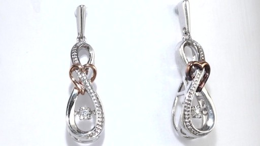 Zales Unstoppable Love Diamond Accent Infinity Heart Drop