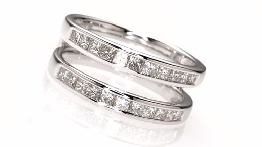 Princess Cut Diamond Solitaire Enhancer In 14k White Gold