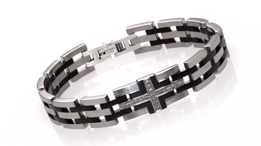Men S Shaquille O Neal Diamond Accent Bracelet In Two Tone