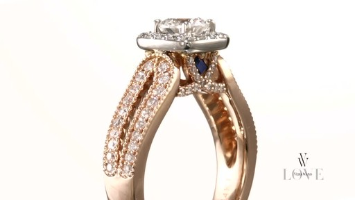 Diamond Split Shank Engagement Ring In 14k Rose Gold Vera