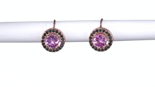 Lab Created Pink Sapphire And Black Spinel Frame Drop
