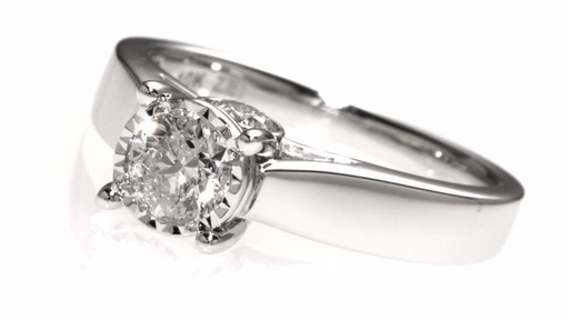 Diamond Engagement Ring In 14k White Gold 1 Ct T W Sol