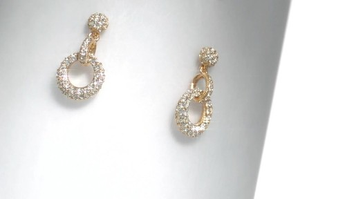 Ava Nadri Crystal Doorknocker Earrings In Br With 18k Gold Plate Image 1 From The