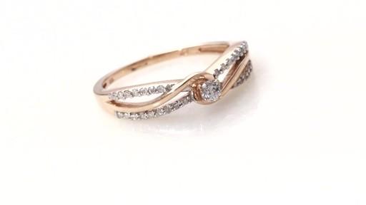 Diamond Split Shank Ring in 10K Rose Gold Women s Size regular ZALES 1