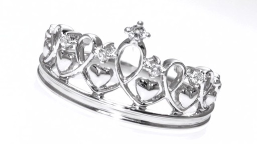Diamond Accent Heart Crown Ring In Sterling Silver Rings
