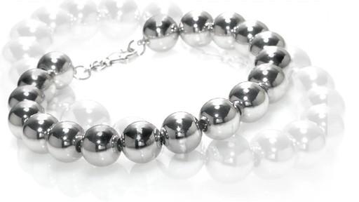 Zales Bead Bracelet In Sterling Silver 7 25 Quot Women S