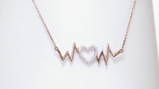 Zales Heartbeat with Hearts Necklace in Sterling Silver and 14K Rose Gold Plate YgMJQATaN8