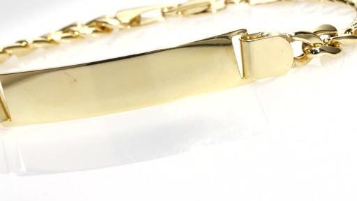 Zales Men S Cuban Link Id Bracelet In 10k Gold 8 5