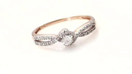 Diamond Twist Shank Ring in 10K Rose Gold Women s Size regular ZALES 1