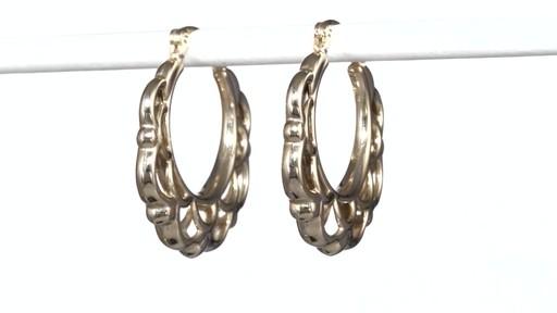 zales lattice hoop earrings in 10k gold s size