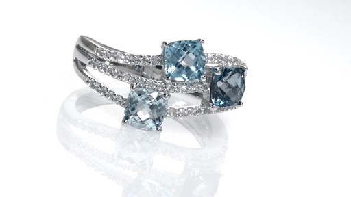 Zales Cushion Cut Blue Topaz And Lab Created White
