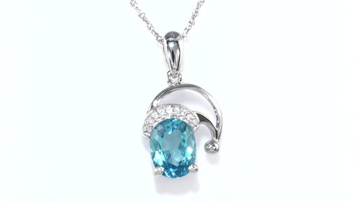 Zales Oval Blue Topaz and Diamond Accent Pendant in Sterling Silver ysldOPeTh6