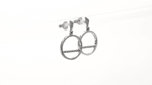 Diamond Accent Horizontal Bar and Circle Drop Earrings in 10K White Gold - image 1 from the video