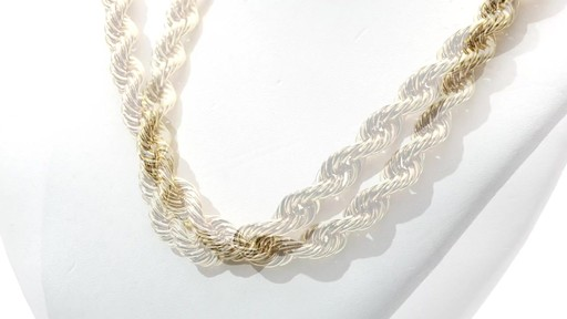 Rope Chain Necklace In 10k Gold 24 Quot Men S Shaquille O