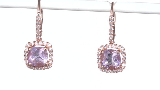 Zales Pear-Shaped Lab-Created Ruby and White Sapphire Frame Drop Earrings in Sterling Silver with 14K Rose Gold Plate gVLE6zeZik