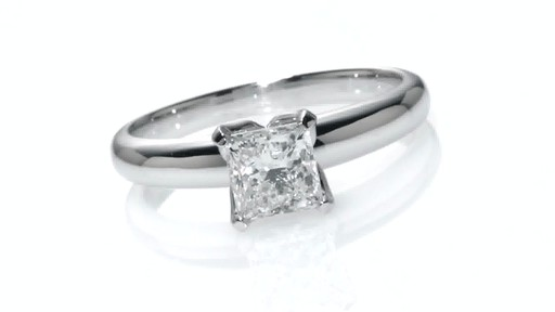 certified canadian princess cut solitaire