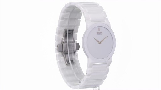20ce7c953 Citizen Eco-Drive Stiletto Blade White Ceramic Watch with White Dial -  image 10 from