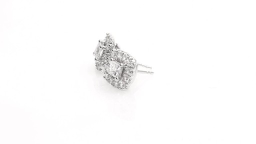 Princess-Cut Diamond Frame Stud Earrings in 10K White Gold 1 - image 4 from the video