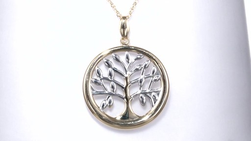 Zales Tree Of Life Circle Pendant In 10k Two Tone Gold
