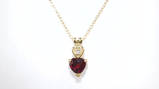 Zales Garnet Heart Necklace in Sterling Silver - 17 yHY68mhiR