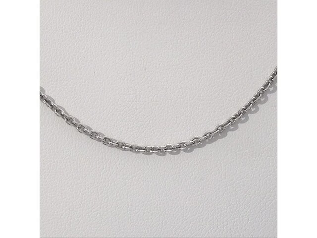 Made in Italy Men's 060 gauge Cable Chain Necklace in Sterling Silver - 18
