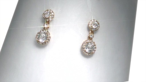 Ava Nadri Cubic Zirconia And Crystal Drop Earrings Br With 18k Image 1 From The