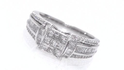 e9d849664 Composite Princess-Cut Diamond Ring in 14K White Gold 1-1/4 CT. T.W. ...