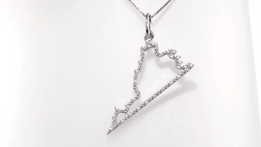 Diamond Accent State Of Virginia Outline Pendant In