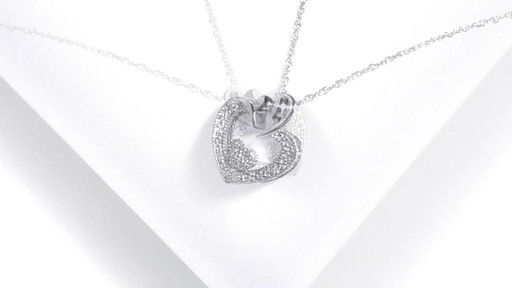 Diamond Accent Motherly Love Heart Shaped Pendant In