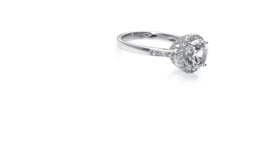 Zales Lab Created White Sapphire Pendant Ring And