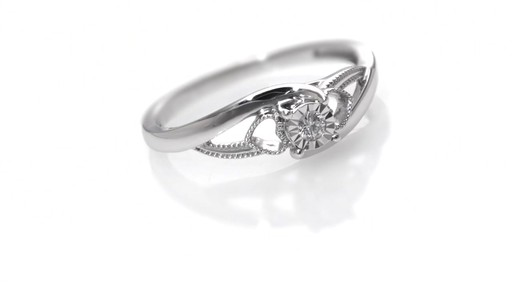 Zales Cherished Promise Collection Diamond Accent Heart Sides Split Shank Promise Ring in Sterling Silver wapekhzM