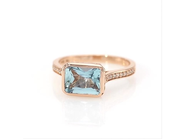 Your Stone Your Story Sideways Emerald Cut Aquamarine And