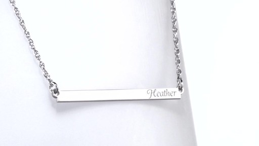 Bar Name Necklace In Sterling Silver 10 Characters Name