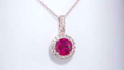 Zales Lab Created Ruby And White Sapphire Frame Pendant
