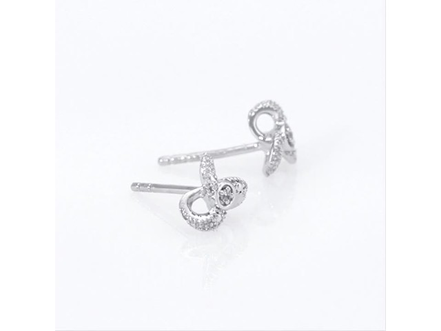 Diamond Accent Flower Stud Earrings in 10K White Gold - image 1 from the video