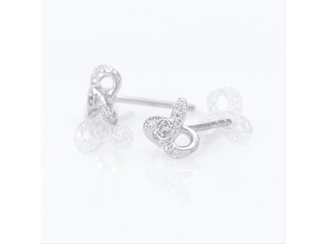 Diamond Accent Flower Stud Earrings in 10K White Gold - image 6 from the video