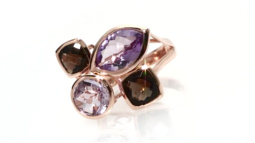 Effy Collection Amethyst And Smoky Quartz Ring In 14k Rose