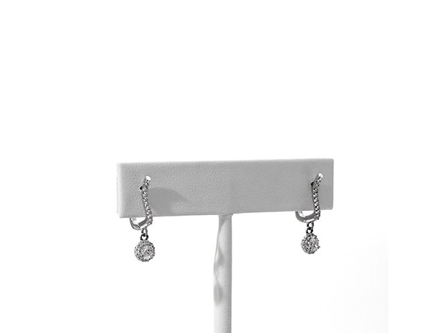 1/2 CT. T.w. Diamond Frame Drop Earrings in 10K White Gold - image 1 from the video