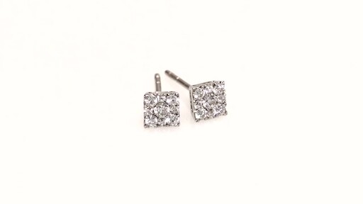 b480fe96769624 Composite Diamond Square Stud Earrings in 10K White Gold, Women's, Size:  regular ZALES