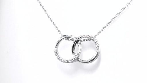 Zales Diamond Accent Beaded Interlocking Circles Necklace in Sterling Silver - 17 e2Azs7D