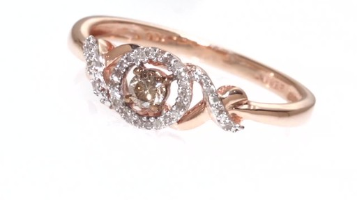 Champagne and White Diamond Promise Ring in 10K Rose Gold 1 6 CT T W Shop