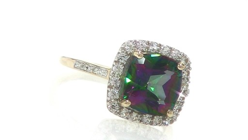 Lab Created Mystic Fire Topaz And White Sapphire Ring In