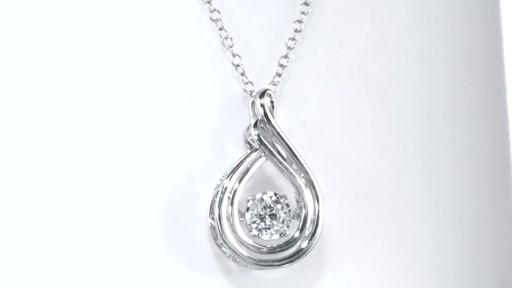 c46ec7b9414 Diamond Flame Pendant in 10K White Gold, Women's, Size: regular ...